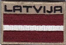 LATVIA. Latvian Army NATIONAL FLAG & TITLE PATCH. VLCRO. FREE SHIPPING