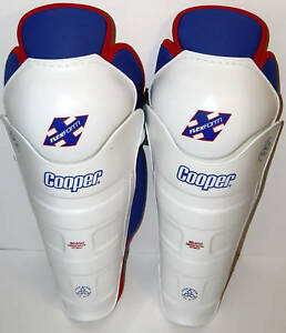 """Cooper SG650 Hockey Shin Guards 15"""" & 16"""" Adult Sized Medium & Large"""