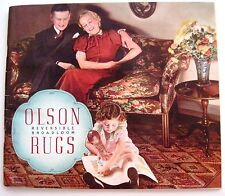 """1937 """"Olson Rugs"""" Catalog w/ Colorful Pictures of Rooms Decorated w/ Rugs *"""