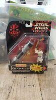 Star Wars Episode I Deluxe Obi-Wan Kenobi Lightsaber Action Figure 1998 Hasbro