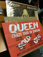 Queen Crazy Tour Promotional Poster 1979 Reprinted 2011 Brand New Mint Hmv