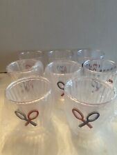 """Set Of Plastic Tumblers, Tennis Racquets, Double Wall, 4"""" Tall, Eleven Tumblers"""