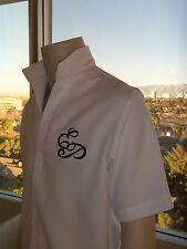WHITE 50's ELVIS EP Monogrammed Shirt (Tribute Artist Costume) Pre Jumpsuit Era