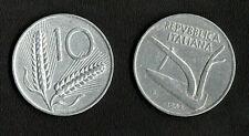 REPUBBLICA ITALIANA 10 LIRE SPIGHE  1954 SPL++
