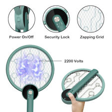 More details for rechargeable electric foldable insect bug swatter | fly killer | fly zapper