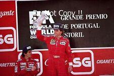 Gerhard Berger Ferrari 640 Winner Portugal Grand Prix 1989 Photograph 2