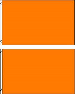 Lot 2 3x5 Solid Plain Orange Printed Nylon Flag 3'x5' Advertising Banner