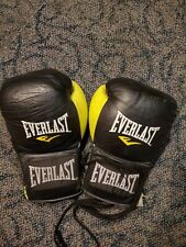 autographed fight worn Everlast boxing gloves.