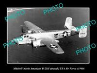 OLD HISTORIC AVIATION PHOTO, MITCHELL NORTH AMERICAN B-25H AIRCRAFT, USAAF c1940