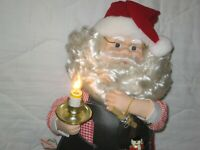 Motion-ettes of Christmas -Santa Claus Animated Figure From early 1980's Tested