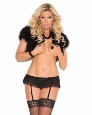 Lace Garter Belt Black Women Plus Double Layer Thigh High Stockings Lingerie Set