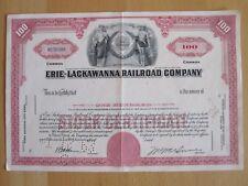 Historische Aktie- Erie Lackawanna Railroad Company 100 Shares, TOP!!!