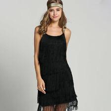 Flapper Dress 1920s Party Vintage Tassel Womens Fringed Dresses Sleeveless Style