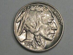 BU 1936 US Buffalo Nickel.  #18
