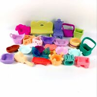 Lot 26pcs Littlest Pet Shop LPS Parts Accessories bag chair sofa plate toy