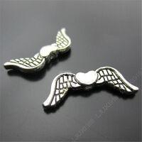 20x Retro Tibetan Silver Angel wings Spacer Beads Findings Jewellery Making N195