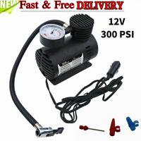 Tire Inflator Mini Car Air Pump Compressor Electric Portable Auto 12V DC 300 PSI