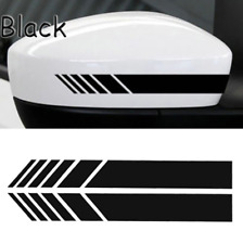 Black Car Rearview Mirror Carbon Fiber 5D Sticker Vinyl Stripe Decal Accessories
