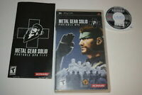 Metal Gear Solid Portable Ops Plus Sony Playstation PSP Video Game Complete