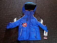 NWT New Baby Boys Size 12 Months Blue Winter Coat Jacket
