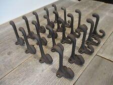 20 Cast Iron Rustic School Style Coat Hooks Hat Hook Hall Tree Restoration 3 1/4
