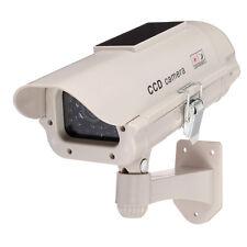 Solar Power Outdoor Dummy IR LED Light Security Surveillance CCTV Fake Camera