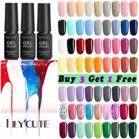 LILYCUTE 7ml Smalto Gel UV Semipermanente Unghie Soak off Nail Art UV Gel Polish