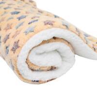 Pet Blanket Dogs & Puppy Cat Paw Print Soft Warm Fleece Car Bed Travel C0F7 K2K6