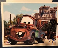 LARRY THE CABLE GUY DISNEY PIXAR CARS MATER AUTO/AUTOGRAPHED 8X10 PSADNA Y51333