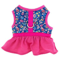 Top Paw Harness Vest Padding Adjustable Easy Fit XS Small Pink Skirt Flower Dog
