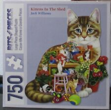 KITTENS IN THE SHED BY JACK WILLIAMS - Complete - SHAPED BITS & PIECES PUZZLE