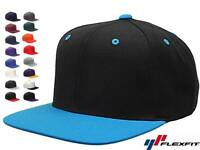 100 Lot Classic Snapback Snap Back Baseball Blank Plain Hat Caps Yupoong 6089M