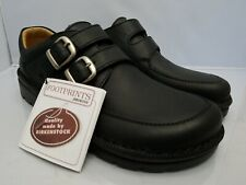 Birkenstock Manhattan Footprints Black Leather Euro 42 Men's Size 9 9.5 M