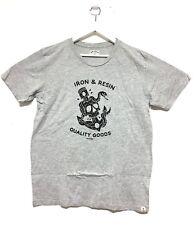 NWOT! Iron & Resin Skull Anchor T-Shirt Heather Gray Men XLarge. USA Made.