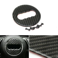 Carbon Fibre Steering Wheel Badge Emblem Sticker Decal Trim For Audi A3/4 Q3/5/7