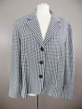 COLDWATER CREEK Womens XL Black/White Houndstooth Button Front Sweater Jacket