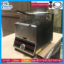 Deep Fryer 3.5 gal Single Basket Commercial GAS Counter Top Countertop Home