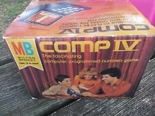 Vintage 1977 Milton Bradley Comp IV Number Sequence Electronic Brain Game NEW