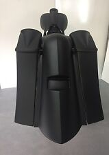 "6"" touring harley davidson stretched saddlebags and rear fender bag bagger 97-08"