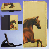 PEOPLE WAITING GALLERY HORSE FLIP WALLET CASE FOR APPLE IPHONE PHONES