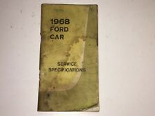 1968 FORD CAR SERVICE SPECIFICATIONS MANUAL MERCURY FAIRLANE MUSTANG COUGAR
