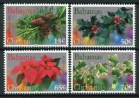 Bahamas Christmas Stamps 2017 MNH Holly Ivy Poinsettia Plants Flowers 4v Set