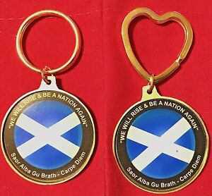 """""""WE WILL RISE & BE A NATION AGAIN"""" Scottish Keyring ~ ONLY £3.75 & FREE UK Post"""