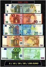 European Union EURO 5 PCS  €100 + €50 + €20 + €10 + €5 Gem UNC