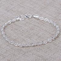 1 Stk. Damen Armband gedreht Silber plattiert Geschenk Schmuck GUT