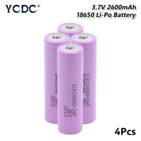 4x Rechargeable Li-ion Battery 18650 3.7V 2600mAh For Flashlight Headlamp Toy E