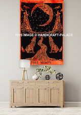 Crying Wolf of The Moon Cotton Tapestry Wall hanging Yoga Mat Ethnic Wall Decor