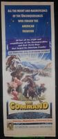THE COMMAND MOVIE POSTER Original 14x36 Insert Size 1954 GUY MADISON