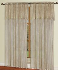 Dainty Home Carmen Lace Window Curtain 60x84 w/ 20-Inch Attached Valance, Taupe