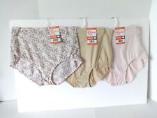 Warners no muffin top brief panties size 7/L 3 pair
